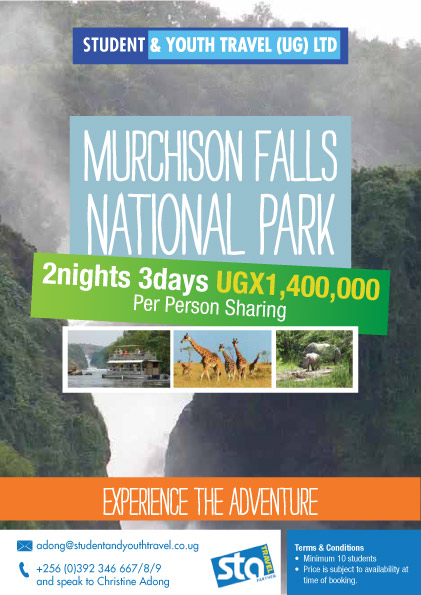 Murchison Falls National Park Safari for Students and Youth Travel Uganda